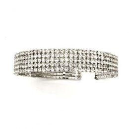 Victorian Bridal Rhinestone 5 Row Collar