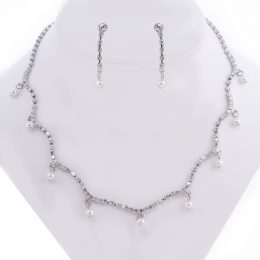 Retro Swarovski Pearl Choker Necklace Set